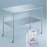 Stainless Steel Instrument & Back Tables